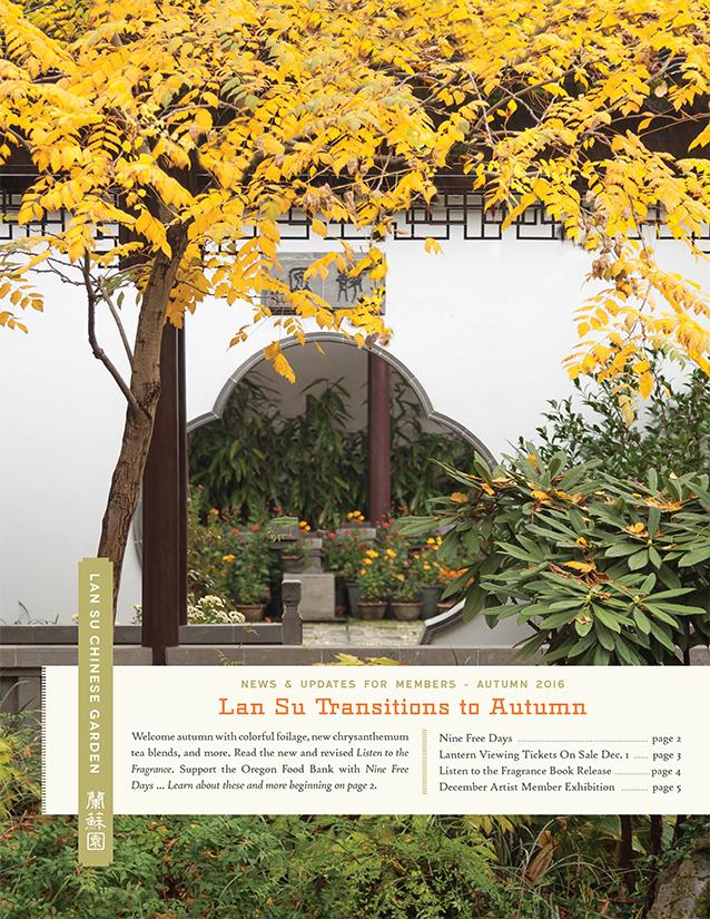 autumn 2016 lan su autumn 2016 newsletter - Lan Su Chinese Garden