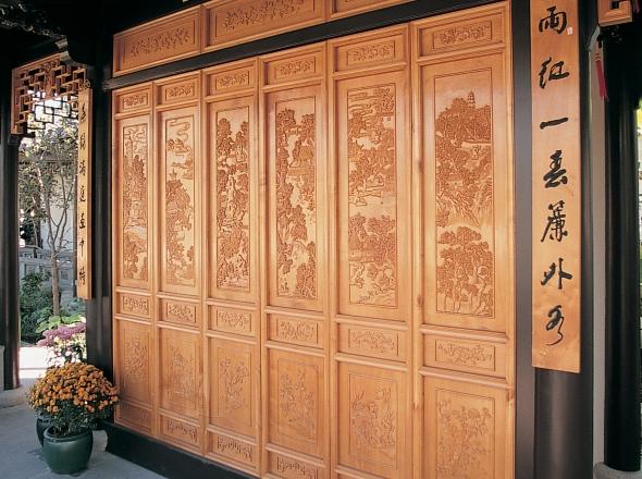 Ginkgo Panels at Lan Su Chinese Garden