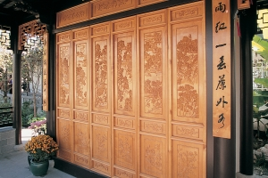 Lan Su Carved Ginkgo Panels