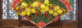 """""""Golden Luck"""" - Brenna Quan AIFD - Best Use of Chrysanthemum Award Winner 2015"""
