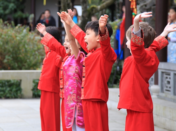 Chinese New Year School Performance - Lan Su Chinese Garden