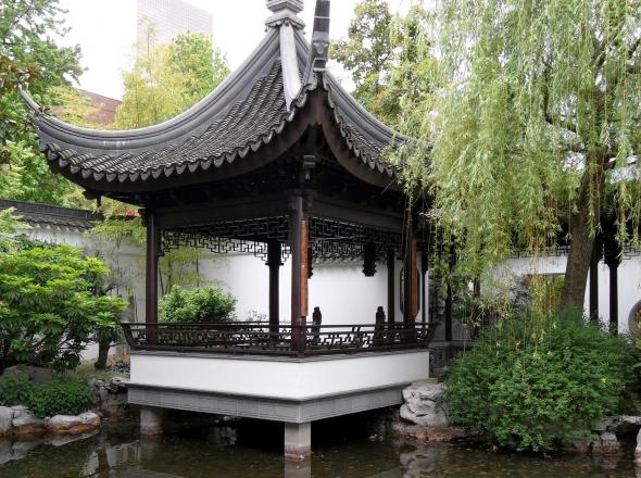 Knowing the Fish pavilion at Lan Su Chinese Garden