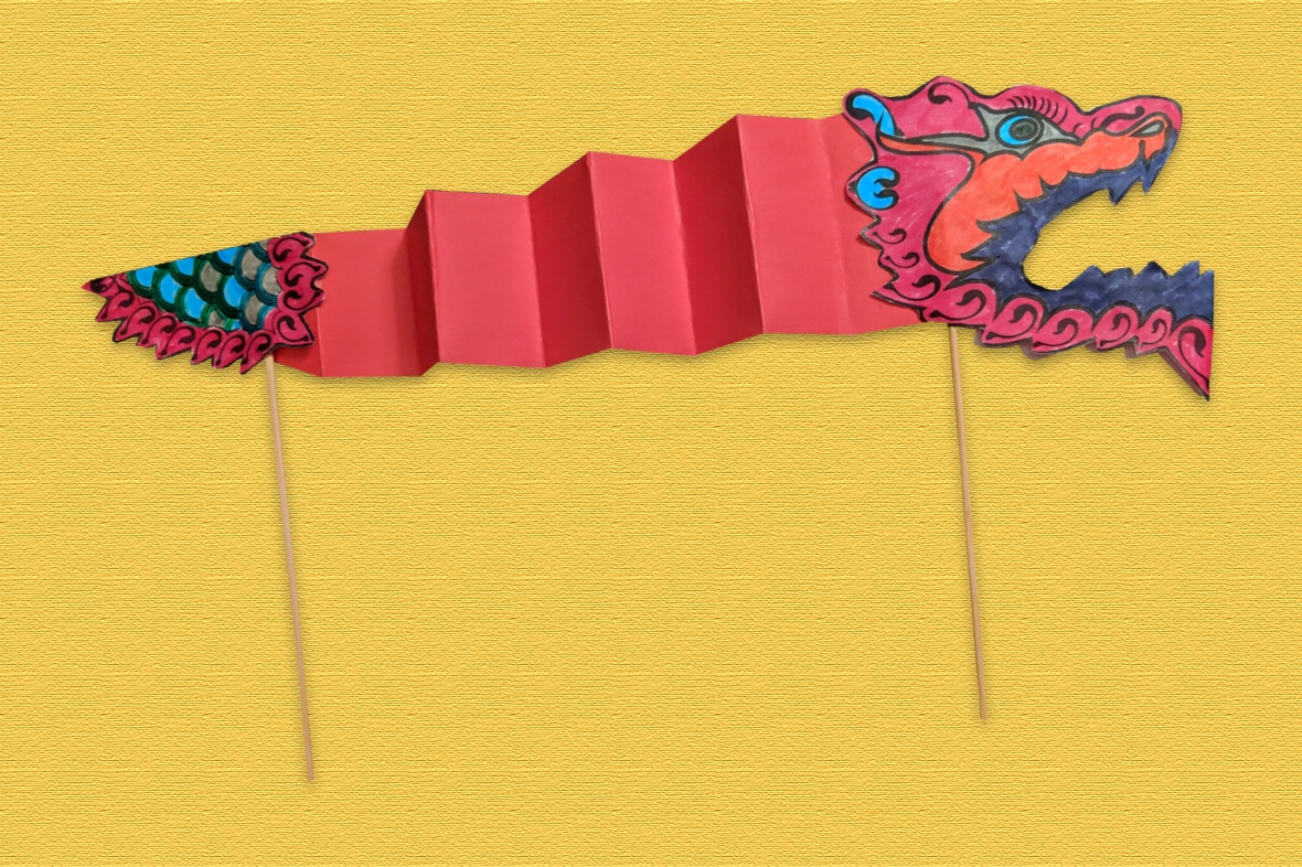Family Craft Activity Make A Chinese New Year Dragon Puppet Lan