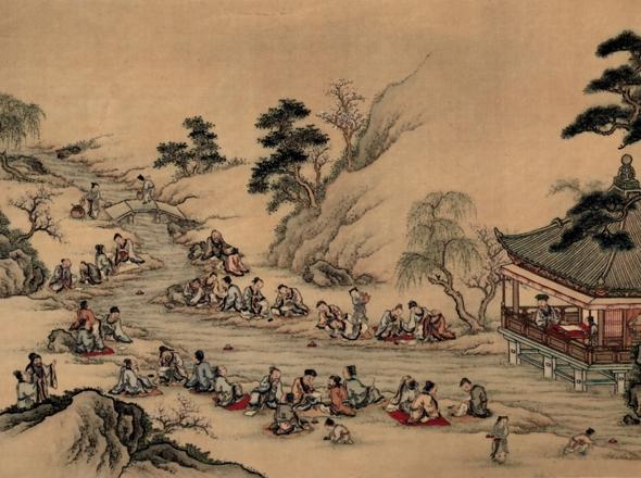 Meandering Stream at Lan-Ting by Yamamoto Jakurin (detail)